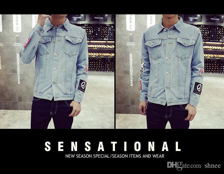 Artı Boyutu M-5XL erkek Denim Ceket yüksek kalite moda Kot Ceketler Ince rahat streetwear Vintage Erkek jean giyim