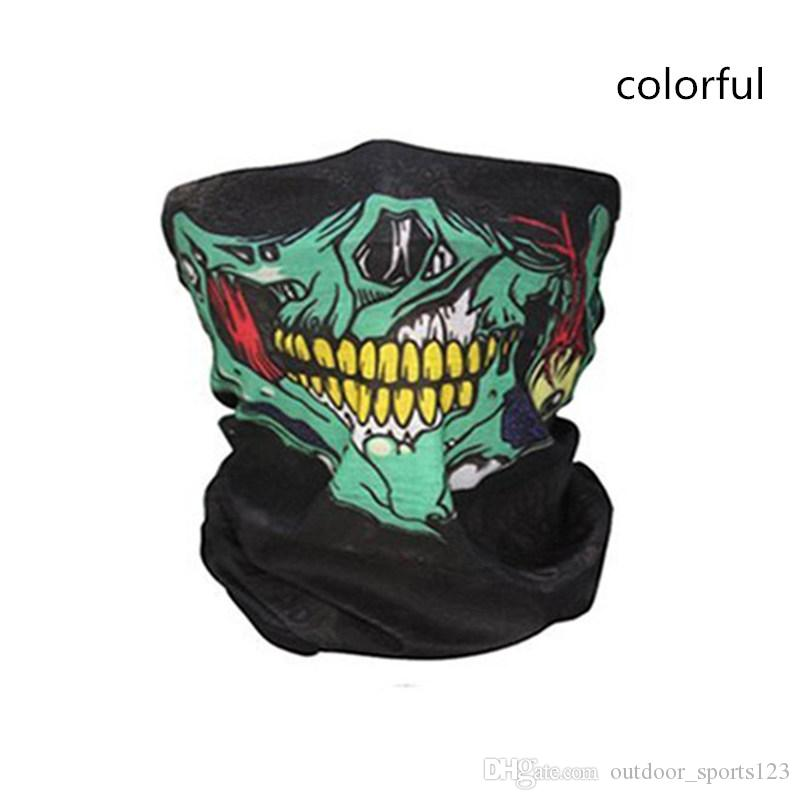 Bicicletta Ski Skull Mezza Maschera Ghost Sciarpa Multi Use Neck Warmer COD Regalo di Halloween in bicicletta accessori il tempo libero all'aperto