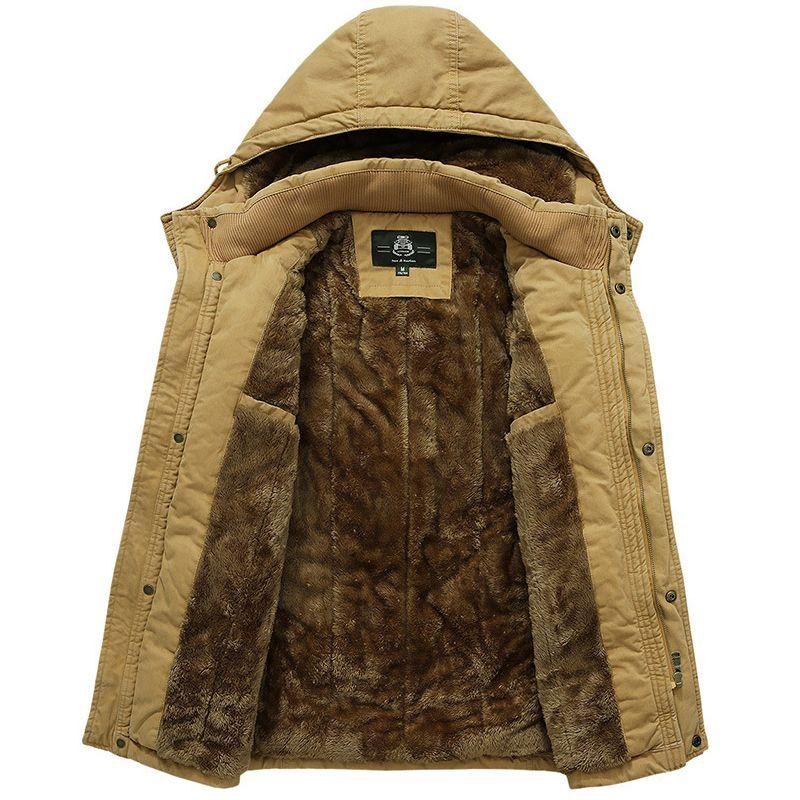 weich und leicht weltweit bekannt großer Rabatt Winter Parka Men Jacket Coat Men Thick Warm Wool Liner Pure Cotton Hooded  Collar Plus Size M-5XL Parka Hombre Jaqueta Masculino