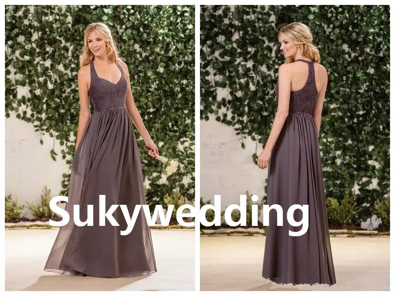 Elegant Lace Jasmine Bridesmaid Dresses Chiffon Prom Dresses for Wedding Guest Dress Halter Sweetheart Maid of Bride Gowns Custom Made