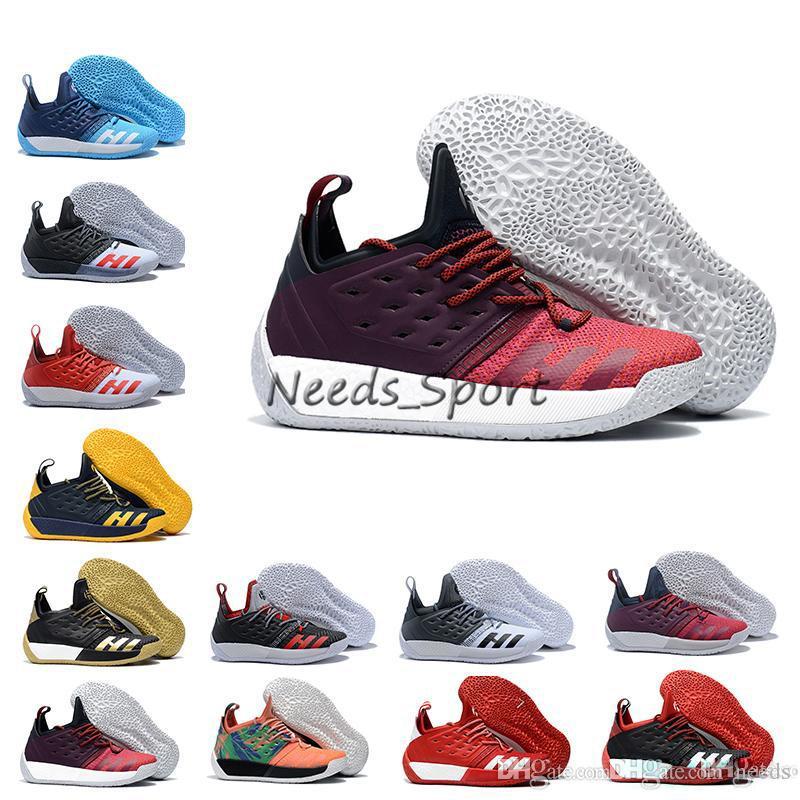 check out c8050 84f16 Acheter Avec Boite, Harden Vol. 2 Chaussures De Basket Ball Pour Hommes James  Harden Vol. 2 Rocket Rouge Blanc Noir Bleu Sport Baskets Taille 7 11.5 De  ...