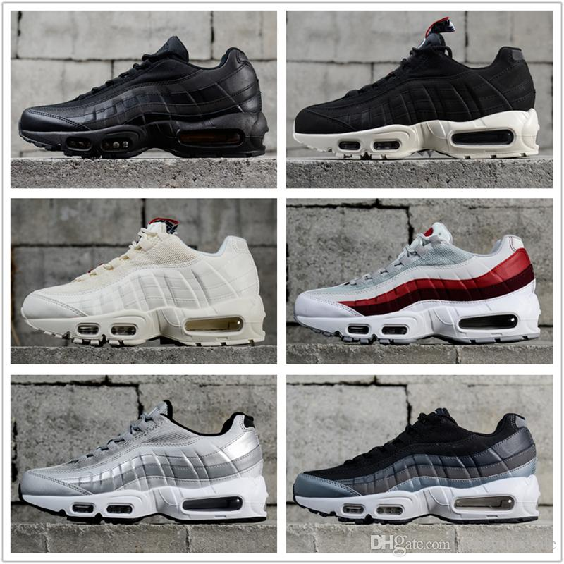 0e831559311200 Hight Quality 2018 New Mens Sports 95 Running Shoes Black White Men ...