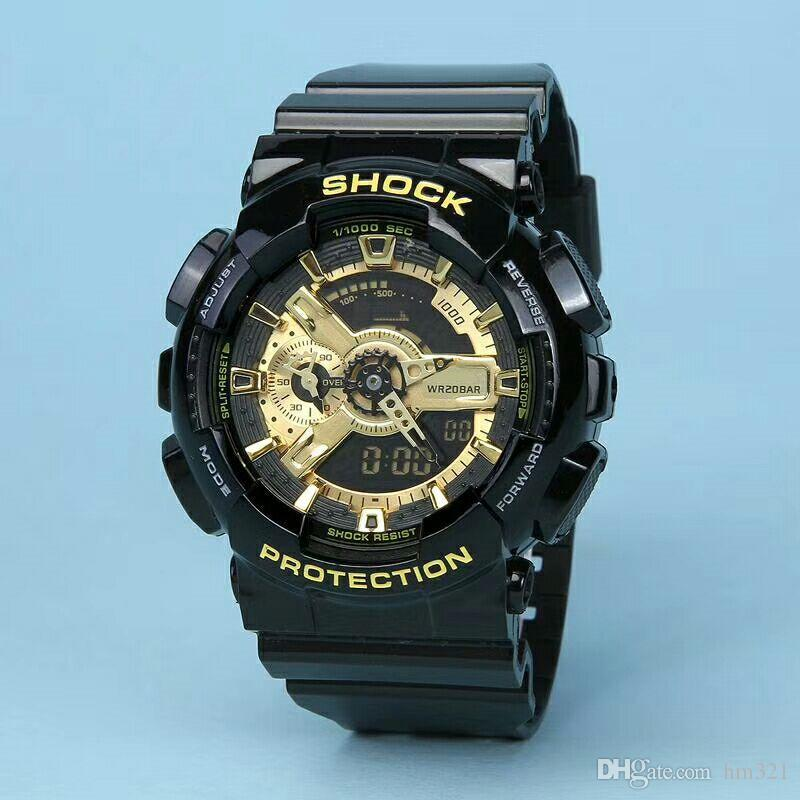 Homens e mulheres de marca de luxo assistir esportes relógio dual de alta qualidade LED impermeável relógio multi-função relógio eletrônico eletrônico neutro. presente