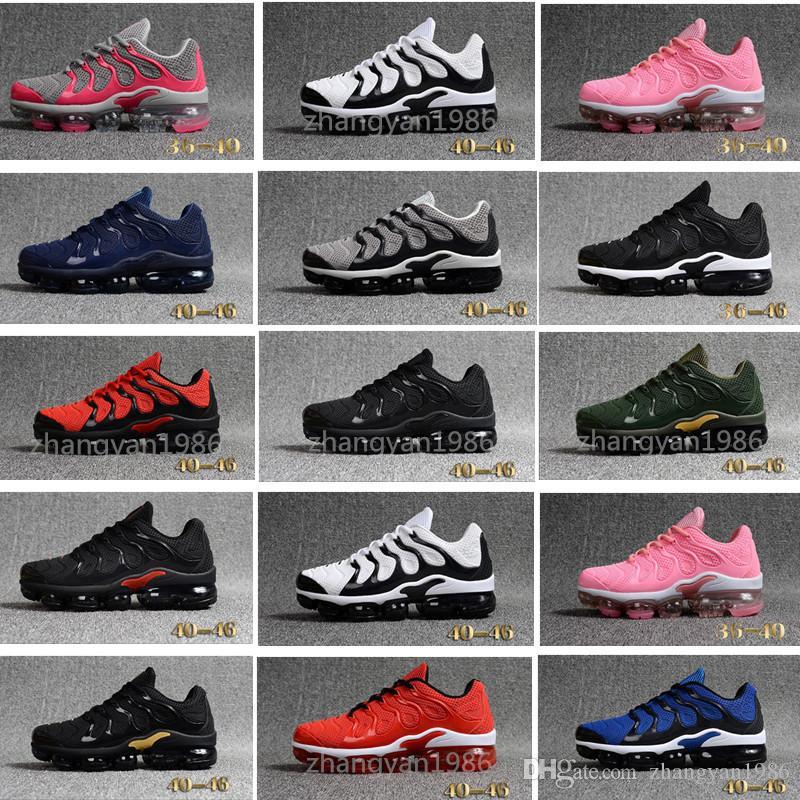 Acheter Nike TN Plus Vapromax KPU Hot 2018 Vapormax TN Plus Casual  Chaussures KPU TPU Hommes Run Femmes Casual Triple Noir Blanc Rouge Sport  Athlétique ... 79c3dd3cead