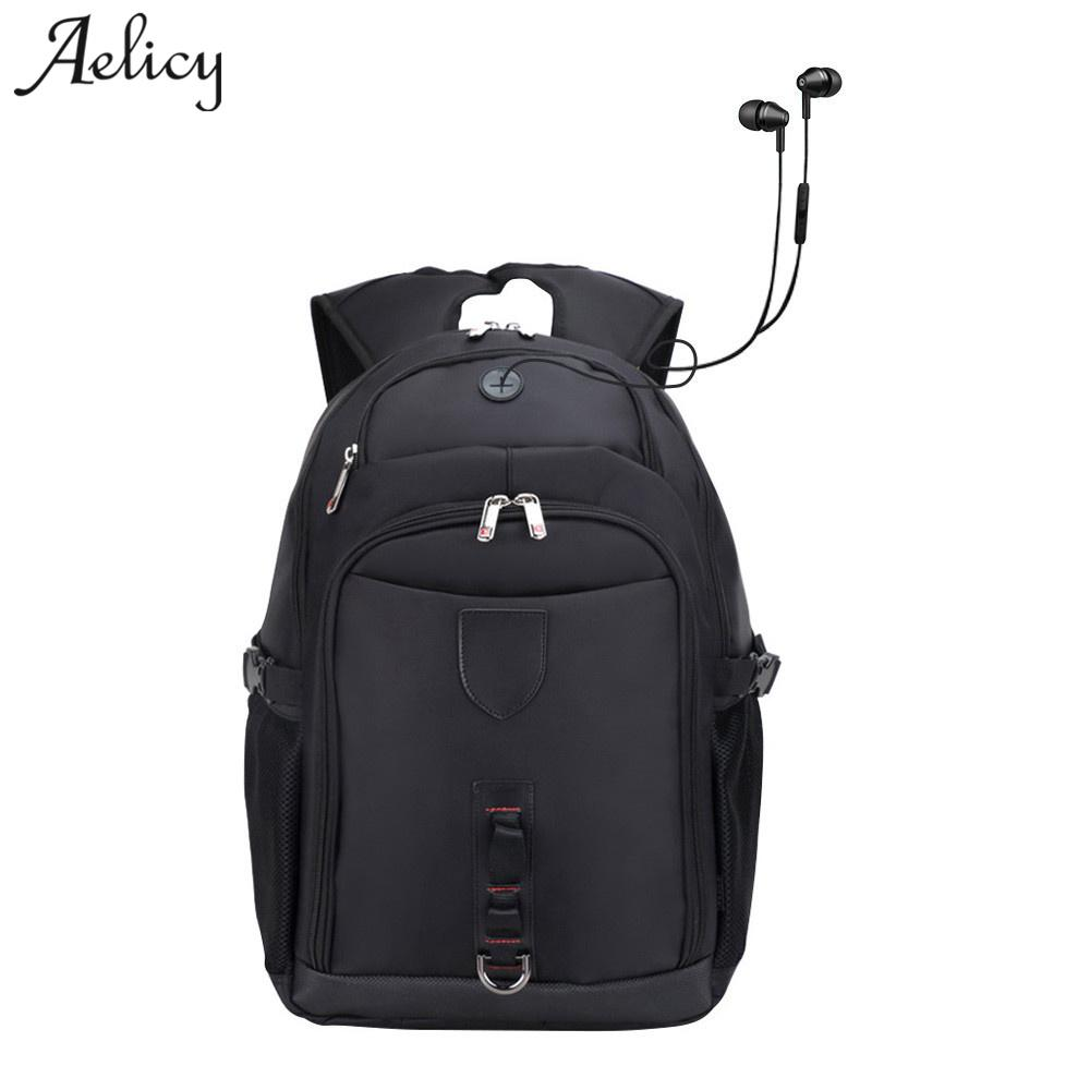 71ce2f296867 Aelicy High Quality Oxford Waterproof Travel Backpack Anti Theft Backpack  With USB Charging Korean Fashion School Bag Backpacks For Men Jansport Big  Student ...