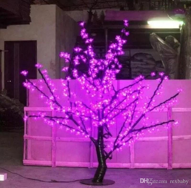 1.5m 5 Ft Hauteur LED blanche Fleur de cerisier Arbre en plein air / jardin intérieur mariage lumière de vacances Decor 480 LED