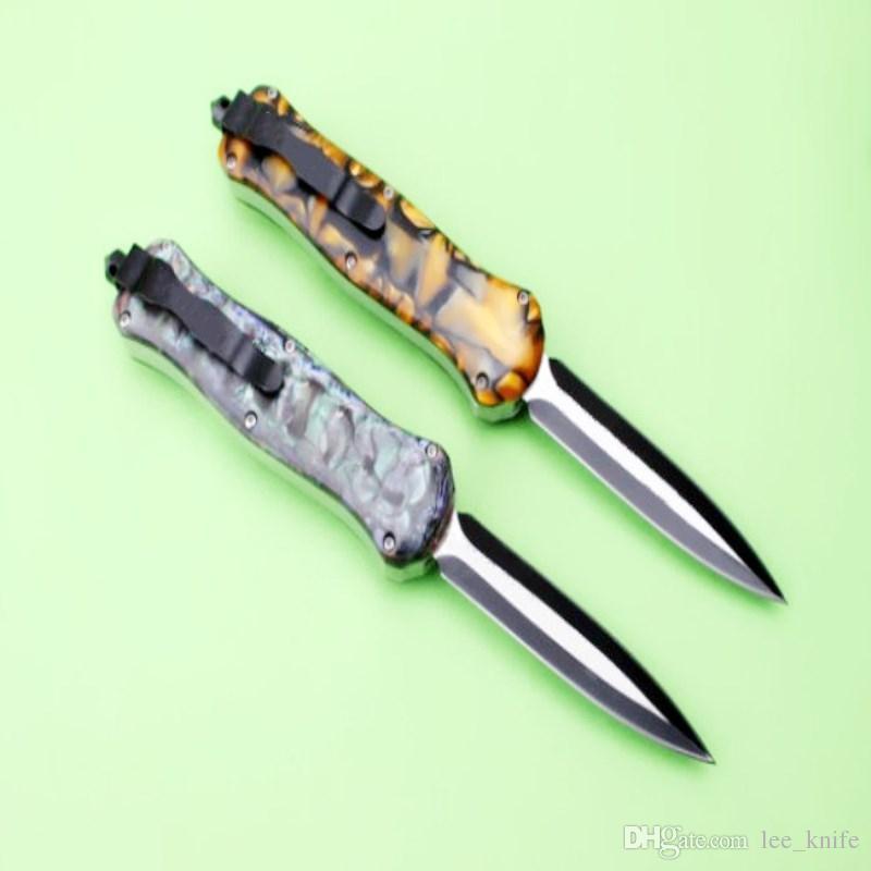 뜨거운 판매 새로운 나비 옥 지방 직선 나이프 캠핑 사냥 야생 선물 칼 무료 배송 6 개