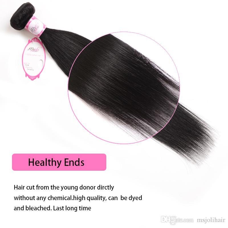 الهندي عذراء الشعر مستقيم 4 حزم 30 بوصة 8A غير المجهزة الهندي مستقيم الشعر نسج حزم 100٪ الهندي مستقيم الشعر التمديد الإنسان