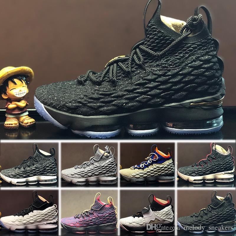 huge selection of b4f35 7518a Acheter Nike Lebron 15 LBJ15 Sneakers Shoes Nouvelle Arrivée LE 15 EQUALITY  Noir Blanc Chaussures De Basket Ball Pour Hommes De 15s EP Entraînement  Sportif ...