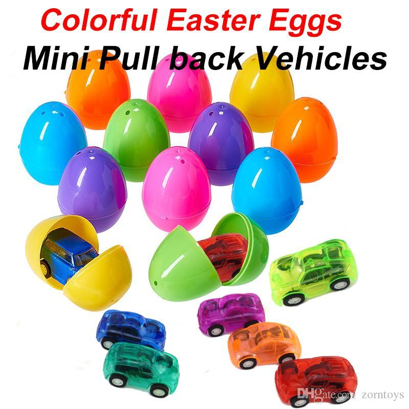 64cm colorful easter eggs filledplastic mini pull back vehicles 64cm colorful easter eggs filledplastic mini pull back vehicles cars toys capsule toy kids toys easter gifts wholesale novelty gift novelty game from negle Images