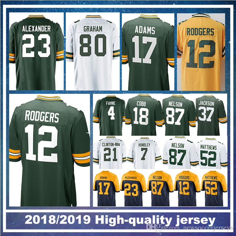 a7d46819eb7 12 Aaron Rodgers Green Bays 80 Jimmy Graham Packer 17 Davante Adams 18  Randall Cobb 23 Jaire Alexander 21 Ha Clinton-Dix 7 Brett Hundley Aaron  Rodgers ...