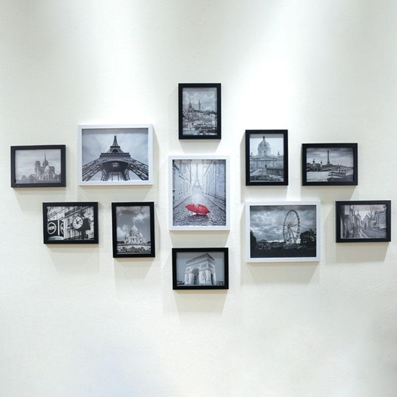 Grand Acheter / En Bois Multi Cadre Photo Cadres Muraux Collage Noir Blanc Set  Décoration Murale Accessoires De $54.5 Du Livegold | DHgate.Com