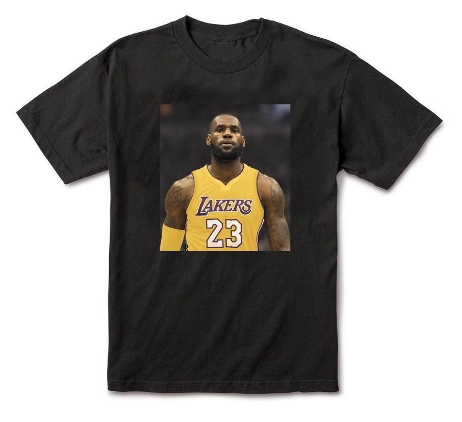 separation shoes a1485 ffca8 Four Quarters Brand LBJ 2 LA Lebron James Lakers Inspired Black T-shirt $28  custom printed tshirt hip hop funny mens tee shirts