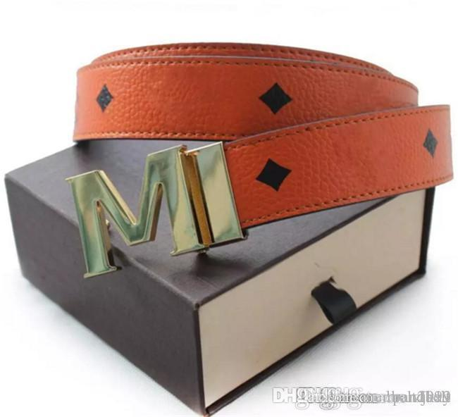 men's M buckle Fashion brand Belts High Quality Designer Luxury Belt For Men And Women Genuine Leather Belt Gold Silver black Buckle 12