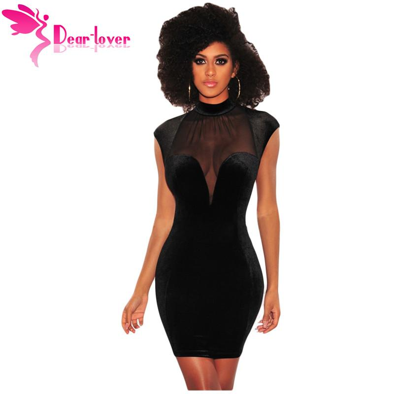 2018 Dear Lover Bodycon Sexy Club Dresses 2018 Black Mesh Bustier Backless Velvet Mock Turtleneck Mini Dress Vestidos Verano Lc220302 From Lanceweng