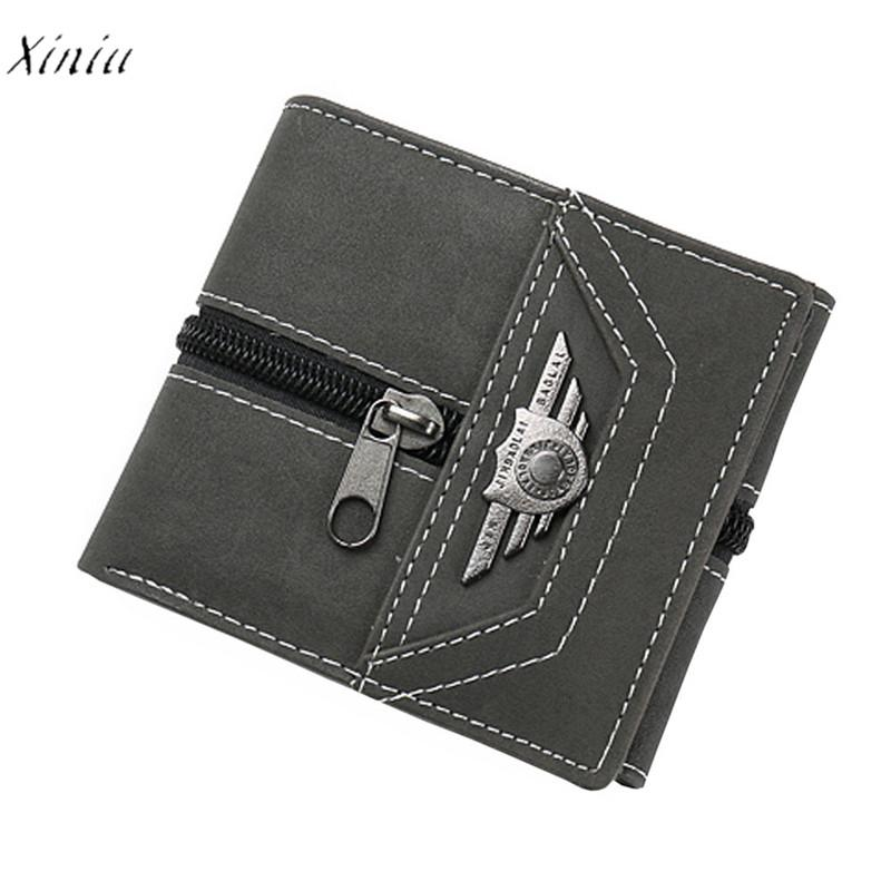 Designer Portemonnee.Men Wallet Casual Designer Small Purse Rfid Card Holder Zipper