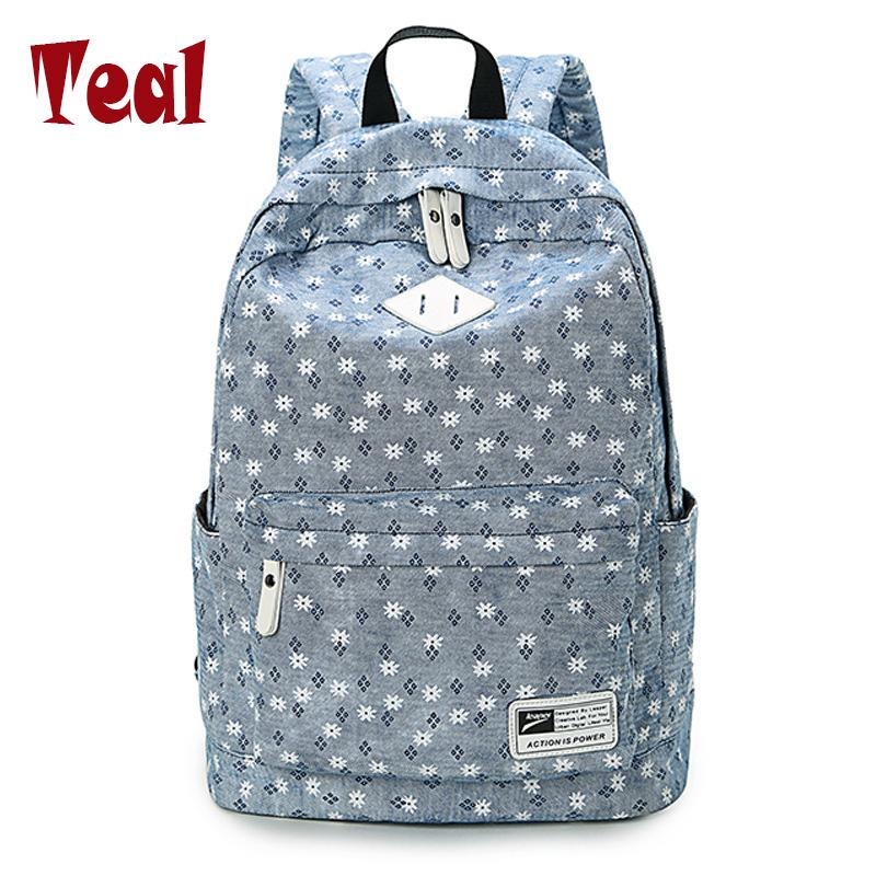 2018 Canvas Women Backpacks School Bags for Teenagers Girls Bolsas ... e02208bc936d9