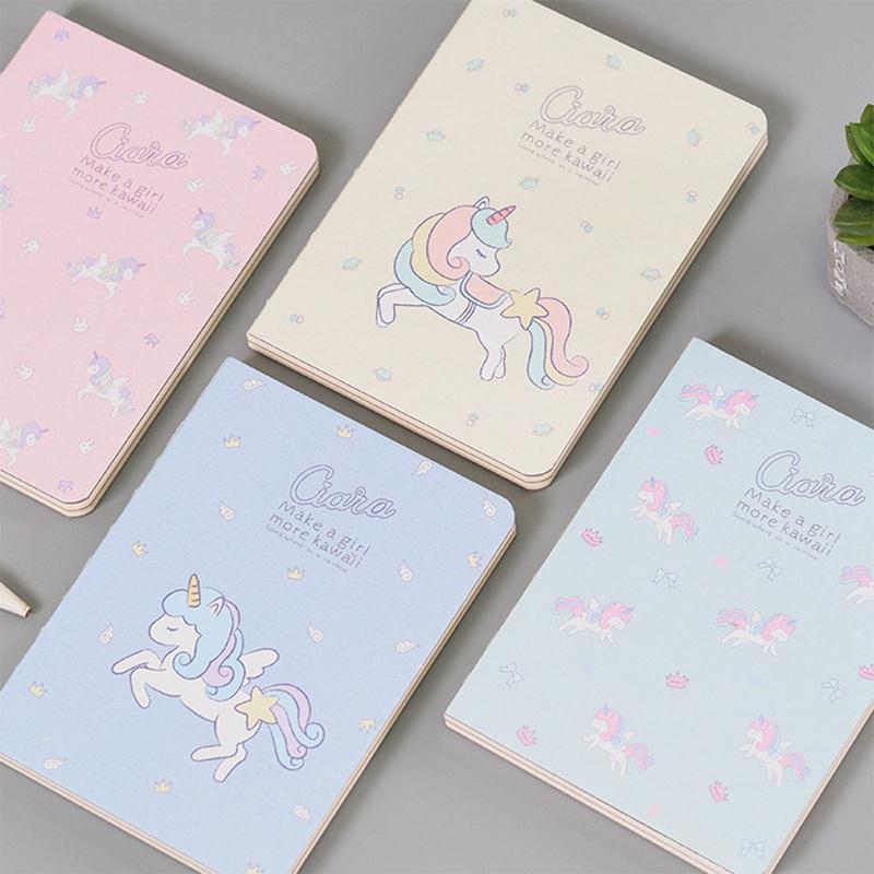 2019 Cute Kawaii Cartoon Animal Unicorn White Kraft Paper Painting