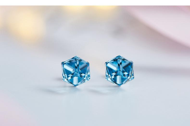 906abc92d 2019 New Fashion Blue Crystal Earrings With SWAROVSKI Crystal Ear Studs.  From Oriental123, $27.14 | DHgate.Com