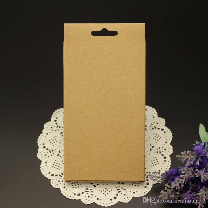 Cell Phone Case OEM Blank kraft paper Retail Package Plastic Paper Box Packing for iPhone 7 6 5 Case with inner Tray