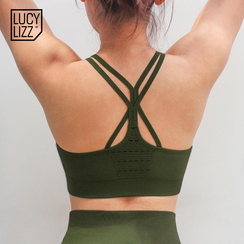 723fd427e 2019 Lucylizz Sexy Ladies Tank Top Strappy Seamless Sports Bra Padded High  Impact Sport Underwear Active Wear For Women Yoga Bra From Duriang