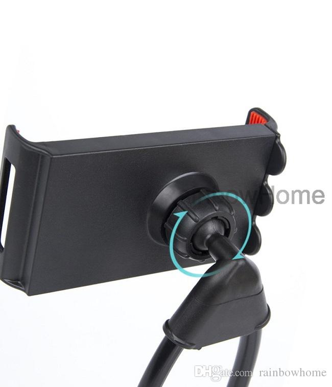 Universal Necklace Cellphone Phone Stand Holder Selfie Stick for iPhone 8 Plus Samsung S8 360 Degree Rotating Lazy Bracket Mounts Round Neck