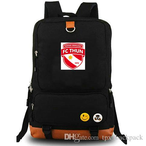 FC Thun backpack Berner oberland day pack Football club school bag Soccer packsack Computer rucksack Sport schoolbag Outdoor daypack