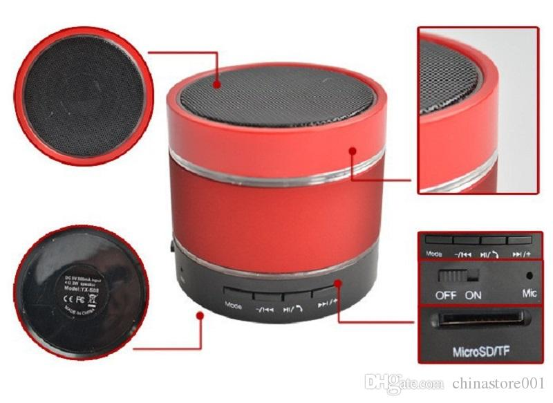 LED Portable Mini Wireless Speaker Bluetooth S09 Enhanced MP3 Music Player 3 LED Light Loudly Super Bass Metal FM Hi-Fi Good Quality