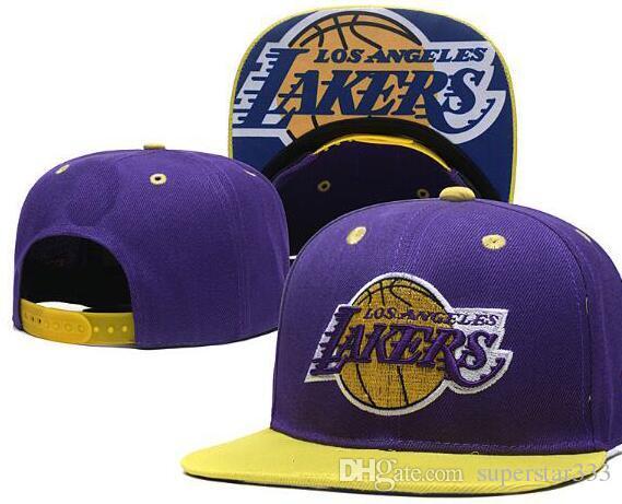 2019 New American Sports Team Lakers Hat 23 James LAL CAP High ... a812b30c4b