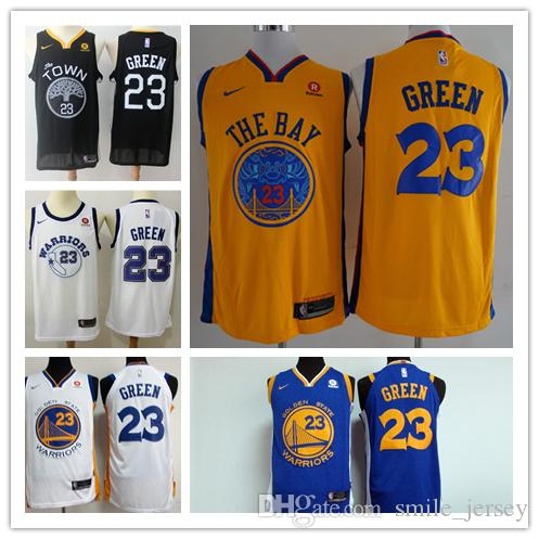 2019 New Mens 23 Draymond Green Golden Jerseys State Warriors ... 2667f2e1c
