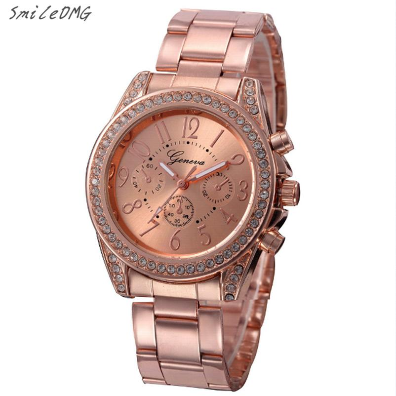 Fashion Ladies Quartz Bracelet Watch Rose Gold Female Wristwatch Luxury Montre  Femme Metal Band Women Diamond Watches ,Dec 1 Waterproof Watch Watch Deals  ... ad2c6f3fe29