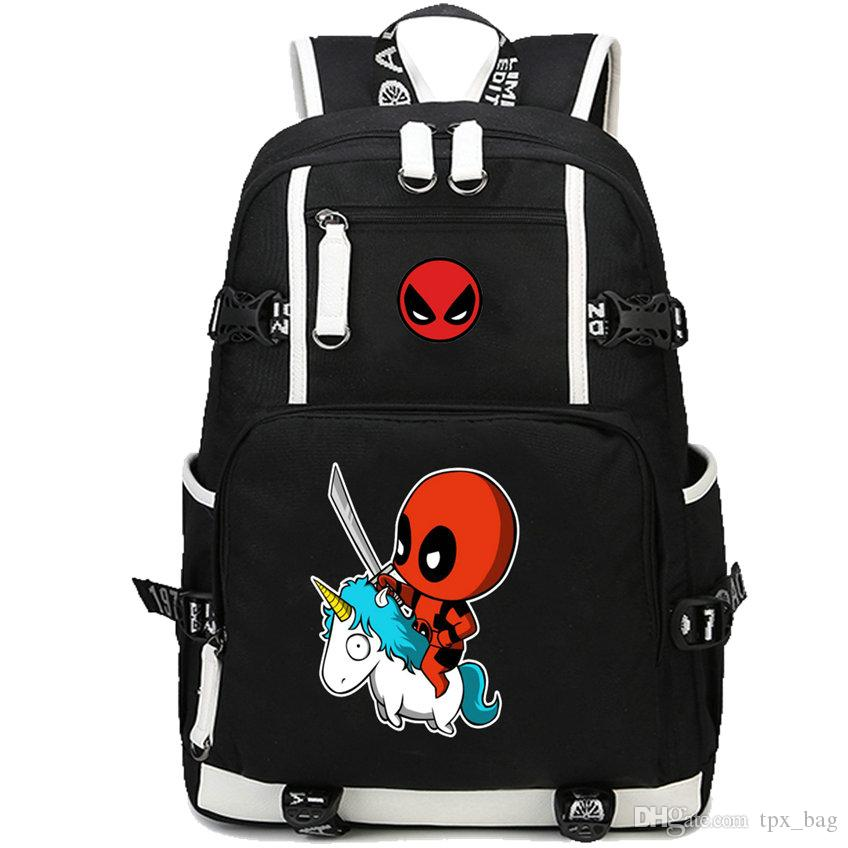 47cc69e8bbe6 Ride Unicorn Backpack Deadpool Daypack Play Game Schoolbag Leisure Rucksack  Sport School Bag Outdoor Day Pack Dakine Backpack Best Backpack From  Tpx bag