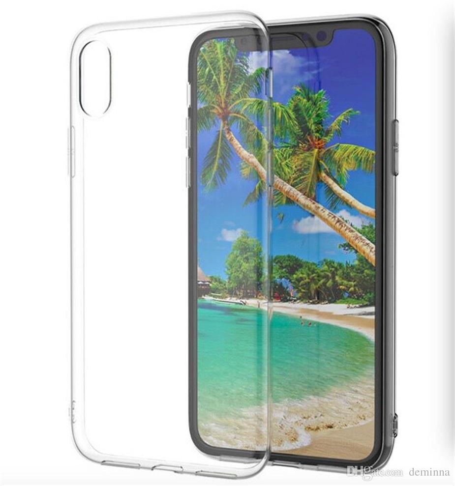 Pour iPhone X 8 Étui Souple Transparent Couverture 1.0mm TPU Silicium Gel Téléphone Cas Pour Iphone8 Samsung Galaxy S9 S8 Plus Note8