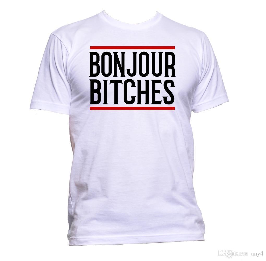 bc77be136 Bonjour Bitches Slogan Sarcastic T Shirt Mens Womens Unisex Gift Funny  Hipster Graphic Tee Shirts T Shirt Sayings From Any4, $13.19| DHgate.Com