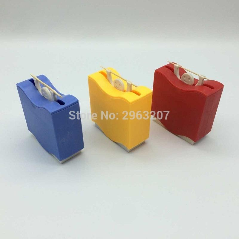 150pcs Plastic Cartoon Automatic Toothpick Holder Toothpick Box Dispenser Home Bar Cafe Table Accessories ZA6951