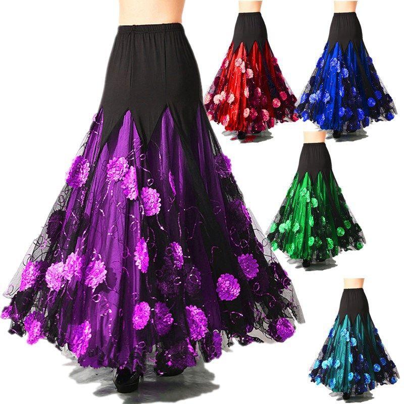 f2db1ab7aaa 2019 2018 New Arrival Ballroom Dance Skirts Lady  Jazz/Tango/Waltz/Modern/Flamenco Elegant Dance Skirts Mermaid Costume Skirt  Y10105 From Splendid99, ...