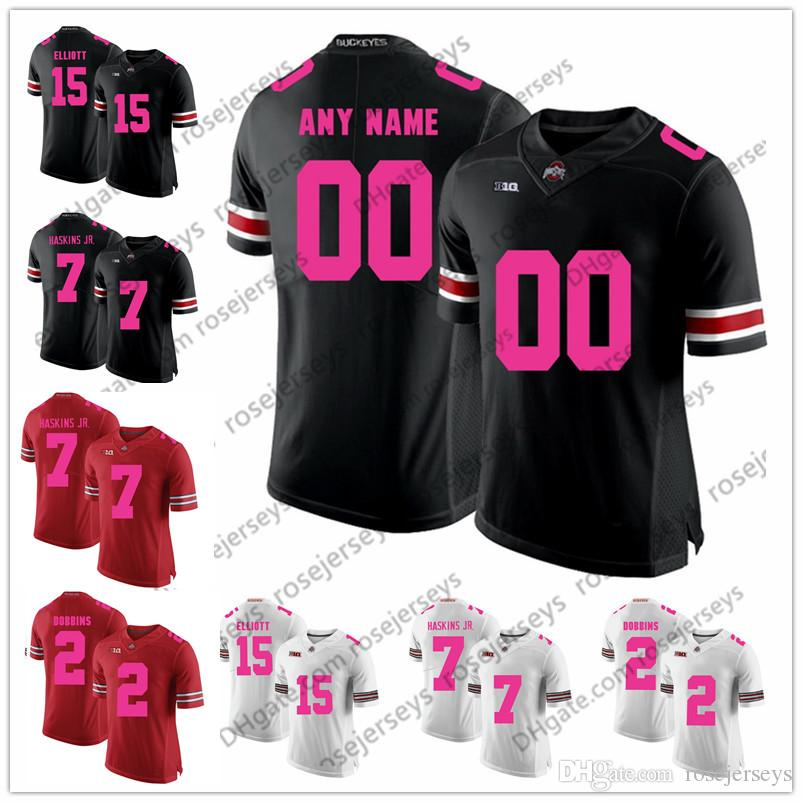 16c951e57 2019 Custom Ohio State Buckeyes 2018 Mother Days Pink Jersey NCAA College  Football White Black Red Stitched OSU Your Name Your Number Dobbins From ...