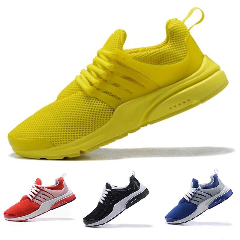competitive price 4896f 37781 Acheter Nike Air Presto Chaussures De Course Presto Hommes Chaussures De  Course Enfants Hommes Femmes Haute Qualité Jaune Mode De Plein Air Jogging  Baskets ...