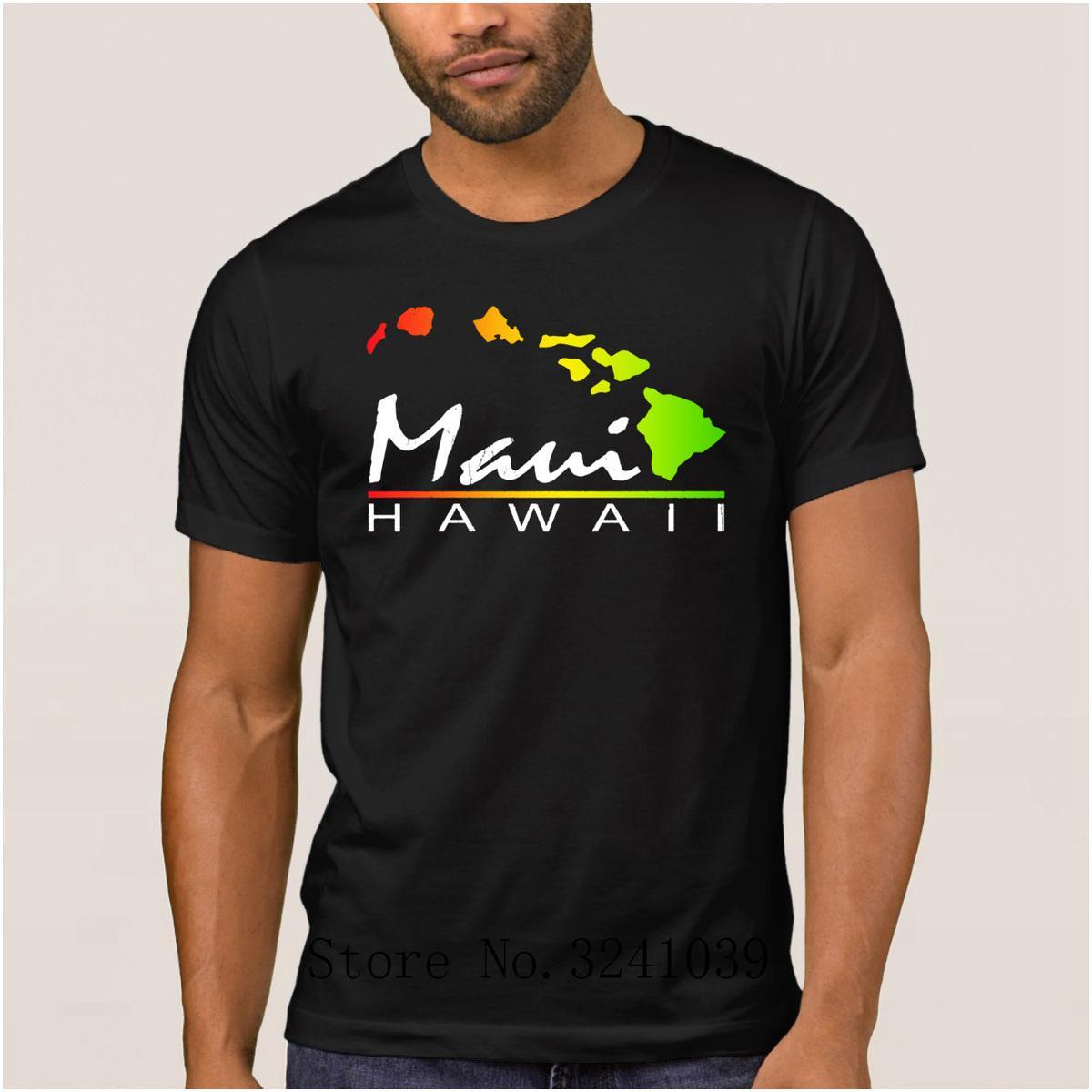 950c68d37 Compre La Maxpa Imprimir Casual Camiseta Maui Hawaii De Las Islas De Maui  Para Los Hombres Verano Camiseta Antiarrugas Camiseta Regular Original 100%  ...