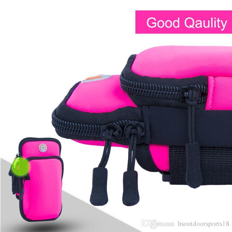 Toptan Moda Açık Spor Renkli Koşu Kol bandı çantası kılıfı Cüzdan Cep Telefonu Bilek Kılıfı Kılıf Çanta