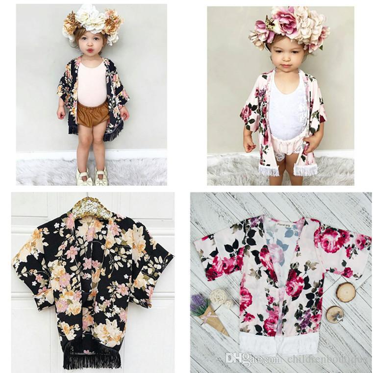 7a600add5 Fashion Baby Girl Clothes Flower Tassel Shawl Cardigan Tops Baby ...