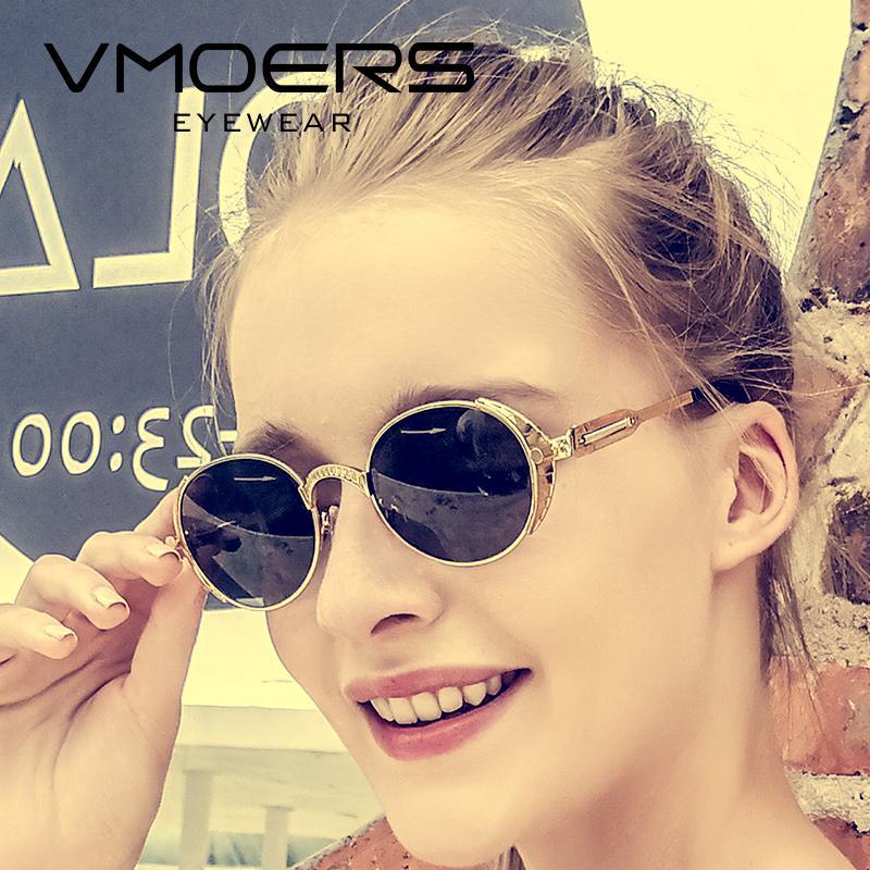 Compre Atacado Feminino Steampunk Retro Óculos De Sol Das Mulheres De Metal  Oval Shades Lunette Marca Do Vintage Óculos De Sol Para As Mulheres 2018  Moda ... e94299dd66