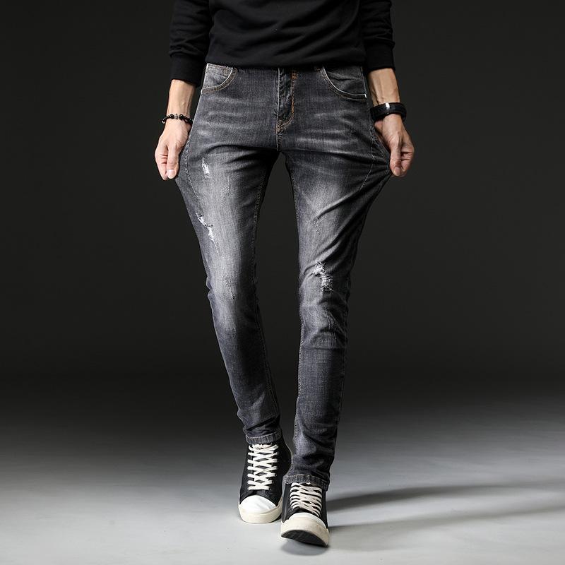 Acquista New Fashion 2018 Casual Produttori All ingrosso Nuovi Jeans  Stretch Inverno Uomini Buco Joker Piedi Pantaloni 1003 Adolescenti A  76.72  Dal ... 2bfc1c2bc3ea