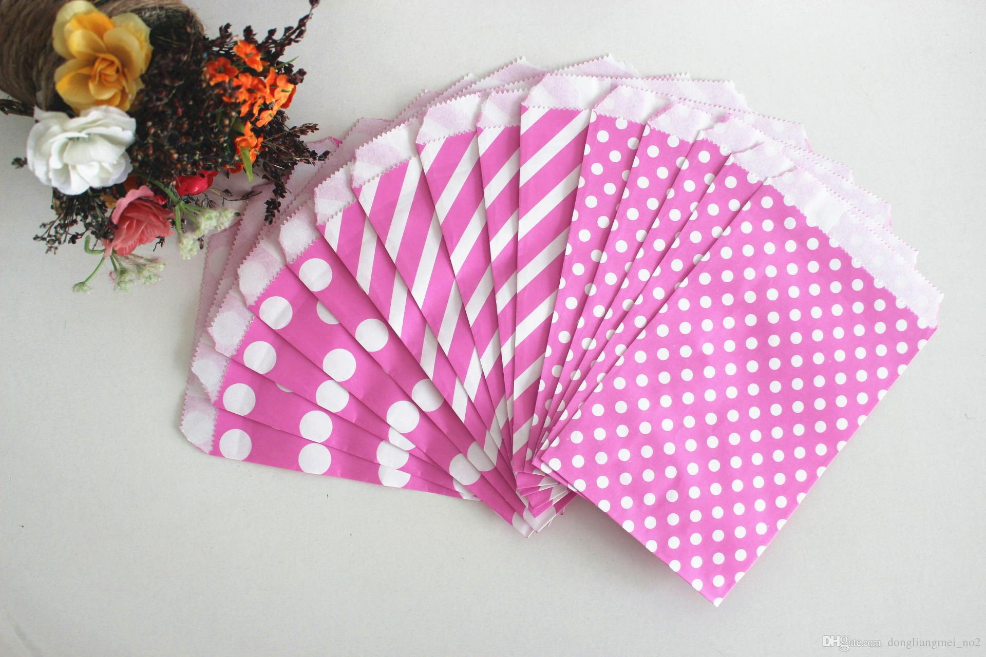 Polka Dot Pattern Paper Bag Candy Cookies Cupcake Bag For Kids ...