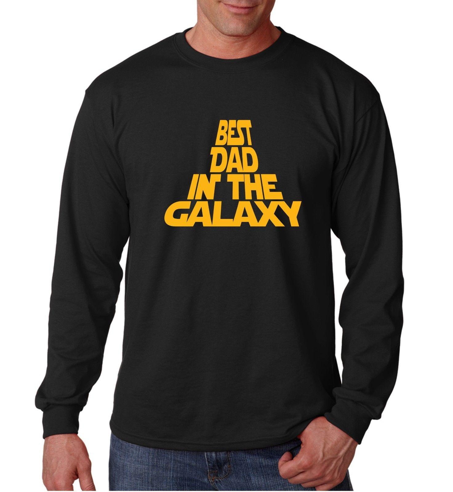 80bce7b4 Long Sleeve Best Dad In The Galaxy Shirt Fathers Day T Shirt Funny Humor Tee  One Tee A Day Random Graphic Tees From Banwanyue8, $15.73| DHgate.Com
