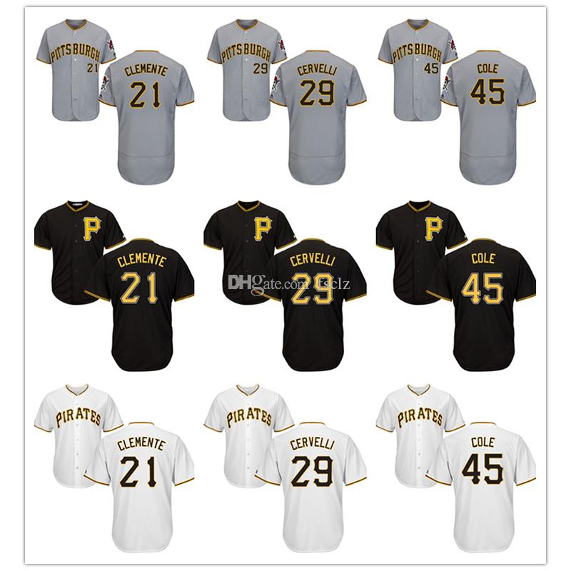 b0bfe7430 ... promo code 2019 mens pittsburgh pirates jersey majestic cool base and flex  base roberto clemente francisco