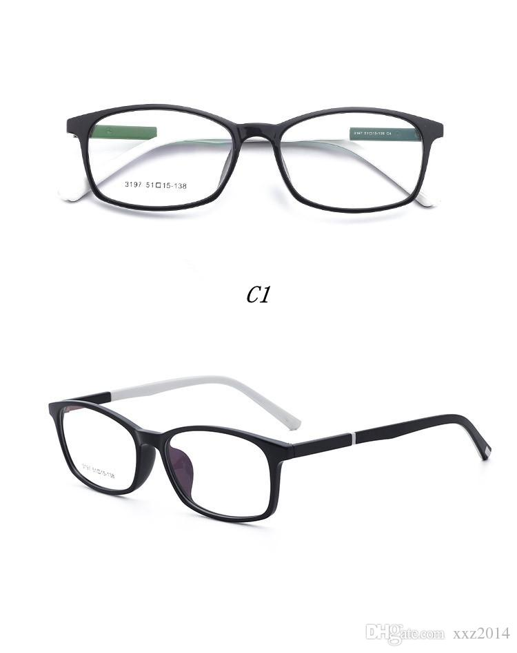 New arrival cheap frame good quality prescription glasses frame 3197 TR90 with clear lens ultra-light eyeglasses 51-15-138 wholesale price