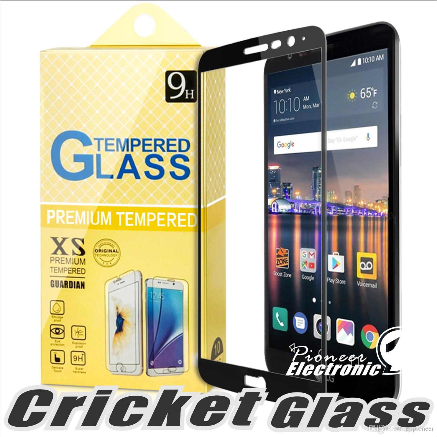 For Lg Stylo Fortune 2 Spree Harmony Samsunghalo Amp Prime Huaweip20 Lite 2 5d Full Cover Tempered Glass Screen Protector For Cricketd Phone eplus e
