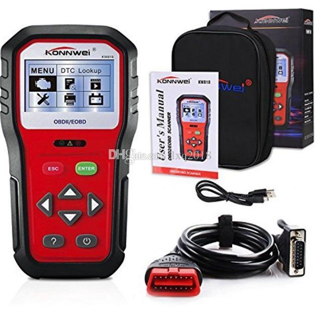 OBD2 차량 코드 리더 스캔 도구 진단 스캐너 KW818 프로 범용 도구