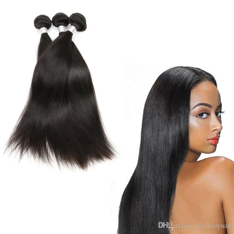Best Selling Hair Welf New Stylish 1b Natural Color Black Straight